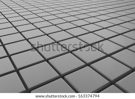 Abstract cubic gray background