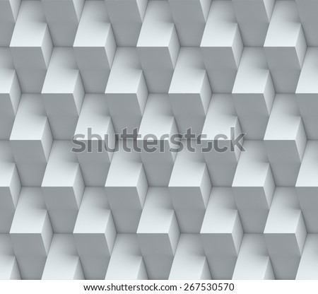 abstract cubical seamless 3d background - stock photo