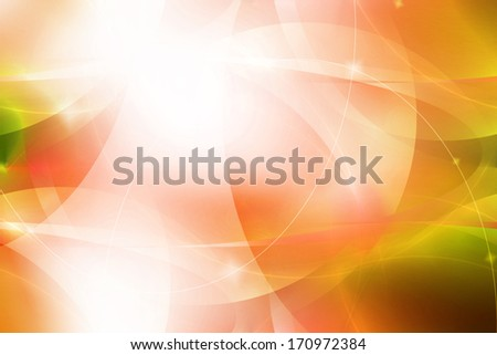 Abstract curve and line background - orange color - stock photo