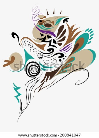 Abstract curve background composition