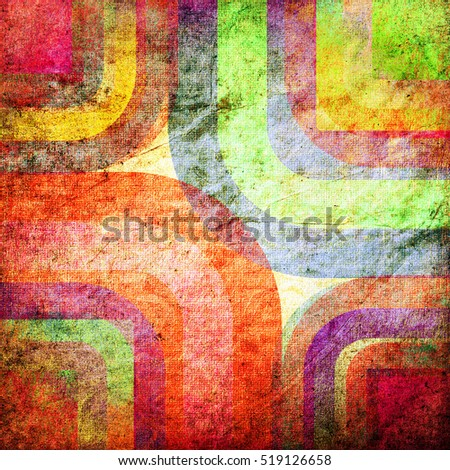 abstract curved bands, grunge background