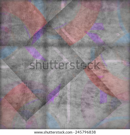 abstract curved bands, grunge background on the paper with some stains - stock photo
