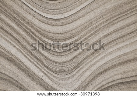 Abstract Curved Gray Sandstone Background - stock photo