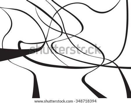 abstract curved waves background black and white jpeg version - stock photo