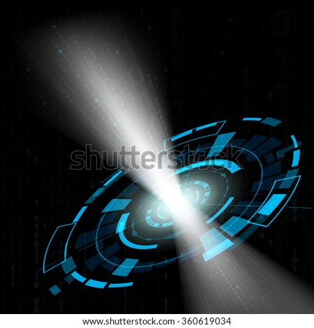 Abstract cyberspace. Futuristic HUD interface. Stock illustration. - stock photo