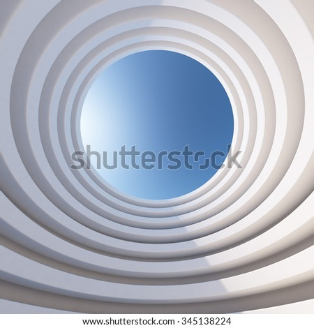 Abstract 3d architecture levelled tower background. - stock photo