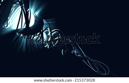 Abstract 3d background  - stock photo