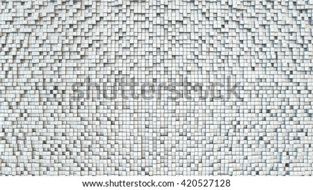 Abstract 3D background from small white cubes