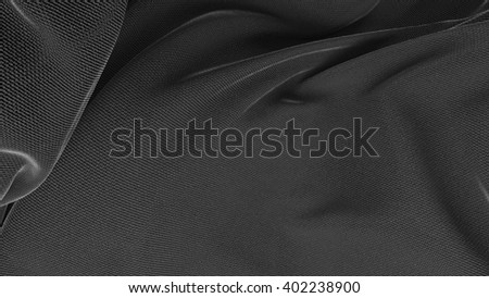 abstract 3d background with folded and wavy cloth