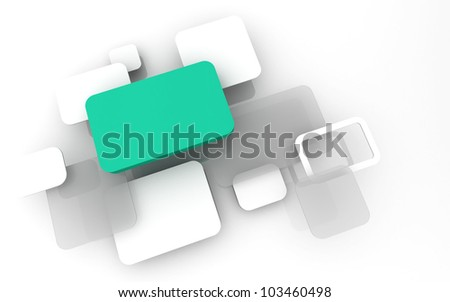 Abstract 3D box render Background Technology Color bubble for Text - stock photo