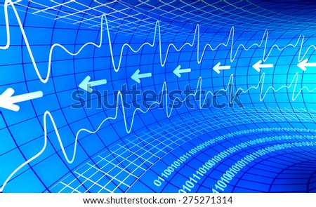 Abstract 3d business graph background - stock photo