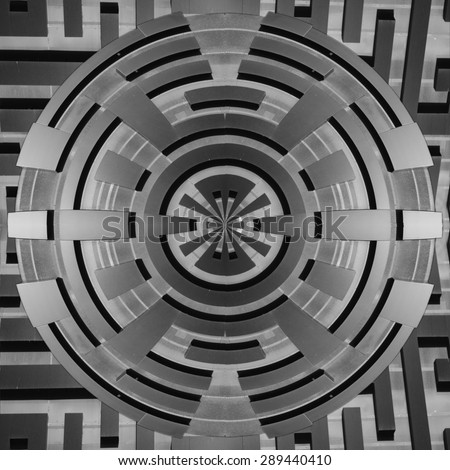 Abstract 3d Circular Panorama of Modern Architecture