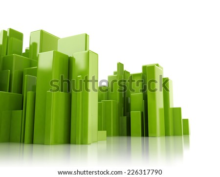 Abstract 3d cityscape - stock photo