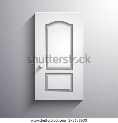 Abstract 3d closed  door illustration - raster version - stock photo