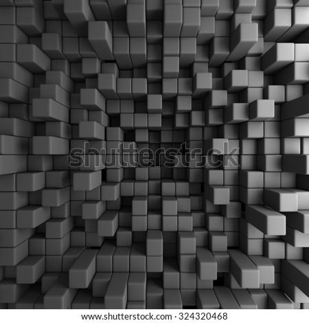 Abstract 3D Cubes Blocks Wallpaper Background. 3d Render Illustration - stock photo