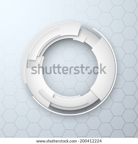 Abstract 3d design technology background paper style - stock photo