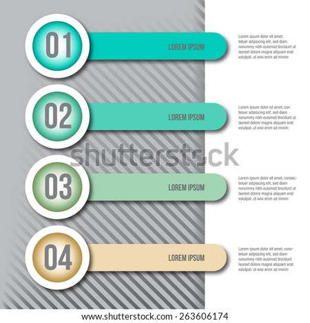 Abstract 3D digital illustration Infographic - stock photo