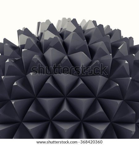 Abstract 3D figure. - stock photo