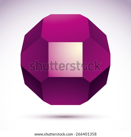 Abstract 3D geometric object - stock photo
