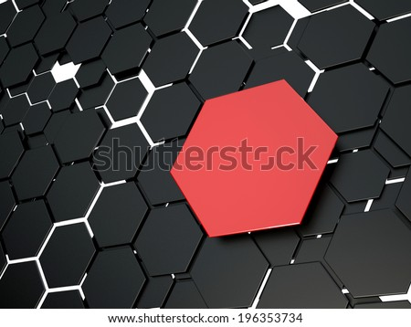 Abstract 3d hexagons background. - stock photo