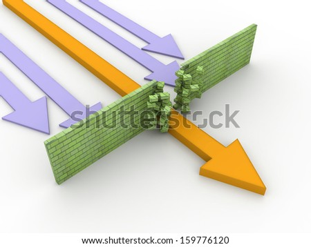 abstract 3d illustration of arrow  - stock photo