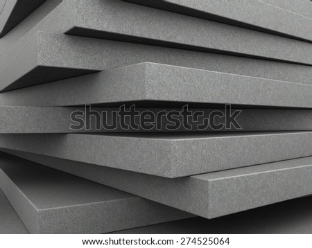 abstract 3d illustration of background with concrete plates - stock photo