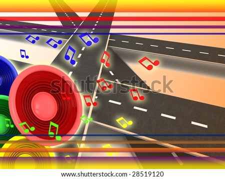 abstract 3d illustration of colorful background