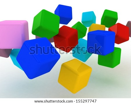 Abstract 3d illustration of cubes.