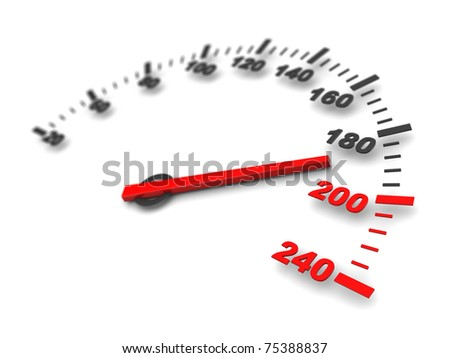 abstract 3d illustration of danger speed - stock photo