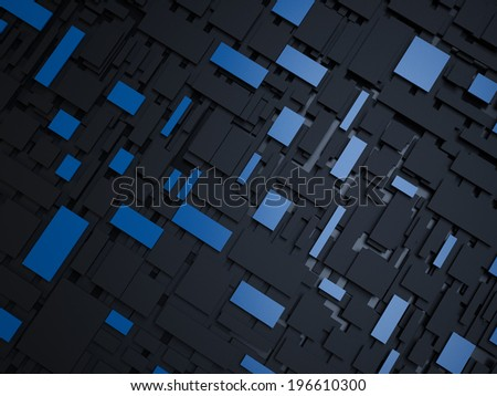 Abstract 3d overlapped rectangles background.