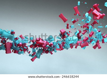 Abstract 3d Particles Background - stock photo
