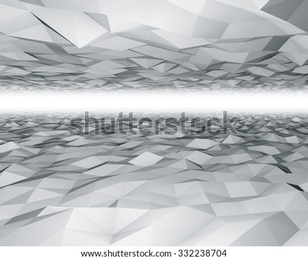 Abstract 3D polygon surfaces background. - stock photo