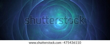 Abstract 3D rendering fractal cover photo design in size for banner or time line header