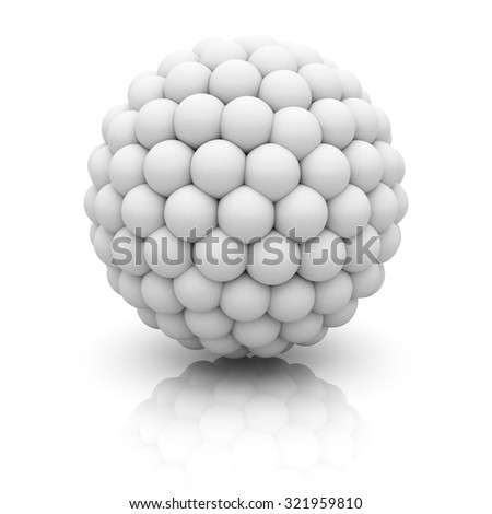 Abstract 3d Sphere On White Background. 3d Render Illustration