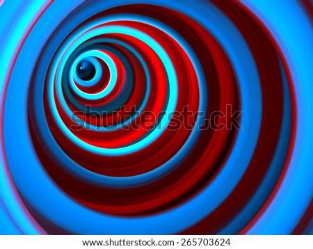 Abstract 3d Vortex - stock photo