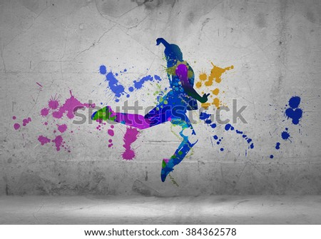 Abstract dancer - stock photo
