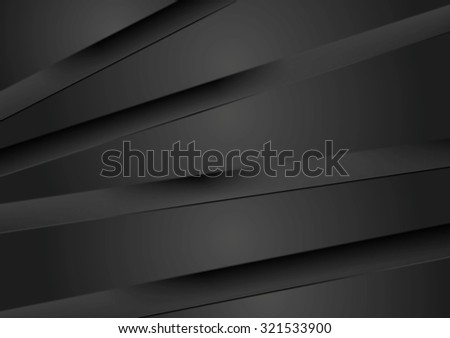 Abstract dark background with black stripes - stock photo