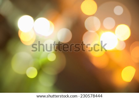 Abstract dark background with colorful bright bokeh - stock photo