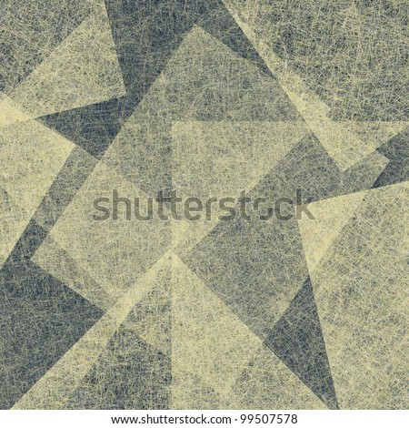 abstract dark blue and white parchment texture background paper with geometrical shapes in design layout or artwork - stock photo