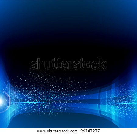 abstract dark blue background (JEPG version) - stock photo
