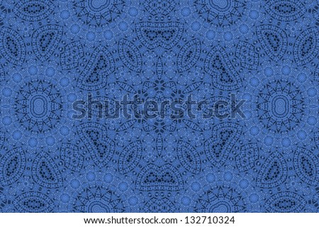 Abstract dark blue ornamental background