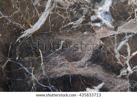 Abstract dark brown marble texture in natural patterned.