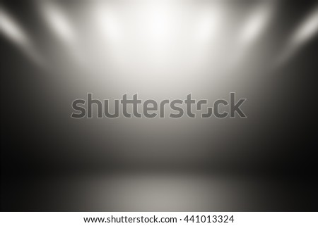 Abstract dark gray empty room studio gradient used for background and display your product / 3D illustration background