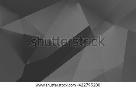 Abstract dark gray polygonal mosaic background, creative design template