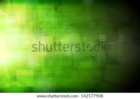 Abstract dark green technology background - stock photo
