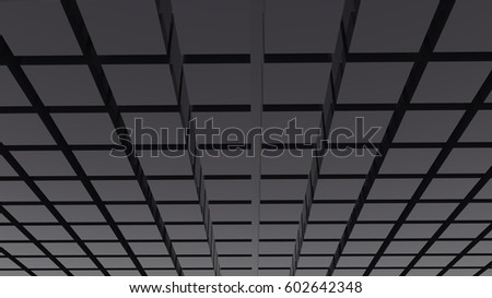 Abstract dark grey cube block texture background 3d illustration