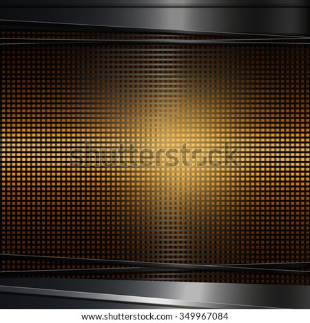 Abstract dark metal background. illustration.  - stock photo