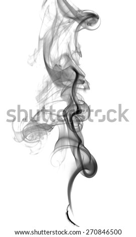 Abstract dark smoke on a light background - stock photo