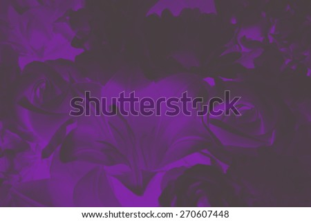 abstract dark violet bloom rose flower painting style - stock photo