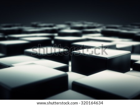 abstract darkness cube background